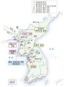 호란의 전개과정 (출처: 비상교육 한국사 교과서 p149. 2009 개정 교육과정)